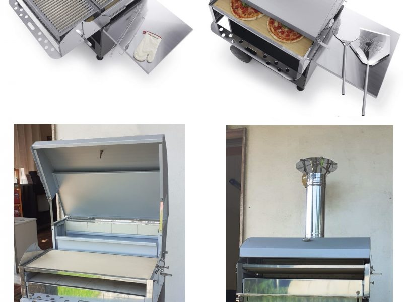 Pizzagrill per cucina la tua pizza preferita e in contemporanea una squisita grigliata
